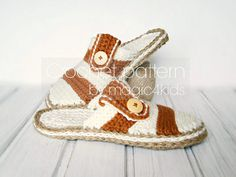 CROCHET PATTERN men clogs with rope solessoles pattern