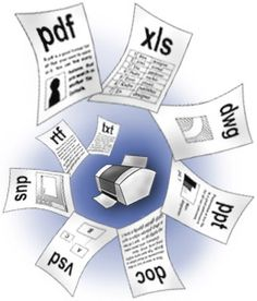 PrintConductor    program prints any number of documents in batch mode. It lets you print large numbers of files, including Adobe PDF, Microsoft Word DOC, Microsoft Excel XLS, Autodesk AutoCAD DWG, Microsoft PowerPoint PPT, etc. Simply specify the files, adjust your printer and press the Run button!    Do you need to convert lots of documents to TIFF, GIF or JPEG? PrintConductor can print on virtual printers to convert documents into graphics files.