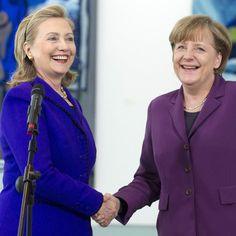 Pin for Later: Angela Merkel oder Hillary Clinton: Wer ist modischer?