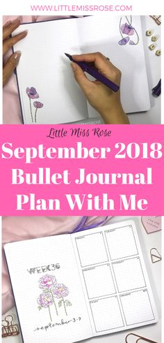 Watch my bullet journal plan with me for September 2018 - you'll see inspiration for monthly logs, weekly spreads and habit trackers