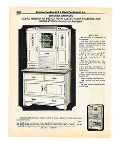 1940-ULTRA-MODERN-HOOSIER-TYPE-KITCHEN-CABINET-Vintage-Catalog-Ad