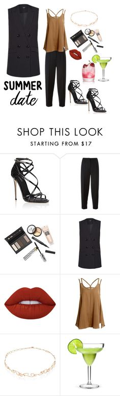 """""""An Androgyny Fashion Summer Date"""" by josehline on Polyvore featuring Dolce&Gabbana, Alexander McQueen, Borghese, Lime Crime and Diane Kordas"""