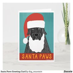 Santa Paws Greeting Card Holiday Cards, Christmas Cards, Egg Shells, Age, Unisex, Paper Texture, Greeting Cards, Santa, Snoopy