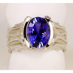 Ladies' Tanzanite Ring 2.90 Carat Blue Violet Vivid Color