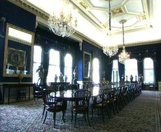 Althorp House State Dining Room, Northamptonshire, England, UK. The State Dining Room is not normally opened to the public.