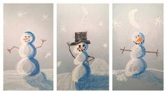 Drawing with shading and highlights is typically taught later in elementary art.  However, this easy snowman drawing technique is simple enough for a preschool art project and has a big visual impa…