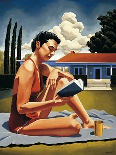 Relax and Read / Relax y lectura (ilustración de Kenton Nelson)