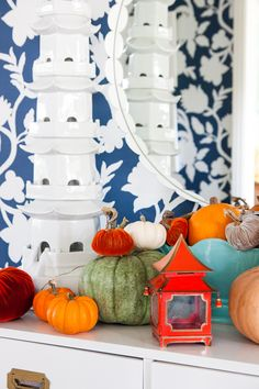 Bold fall decor with