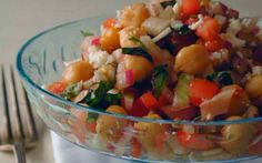 Salada italiana de grão de bico