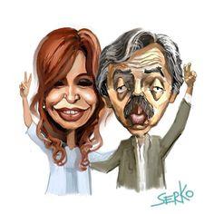 serko caricaturas: Alberto Fernandez y Cristina Fernandez de Kirchner