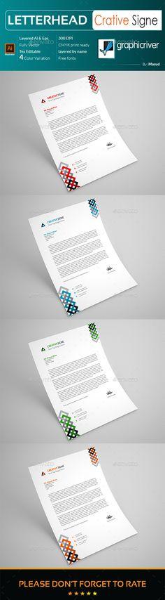 Letterhead Design Template for Fast Food \/ Restaurants \/ Cafe - paper design template