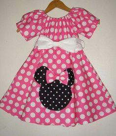 Pink polkadots Minnie dress