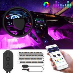 USB Phone Control RGB LED Interior happly light for Chevrolet Ford car TRUCK F