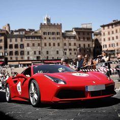 Natural driving pleasure. #Ferrari #RossoFerrari #MilleMiglia #488GTB