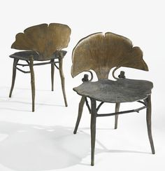 "lalanne, claude pair of ""gingko"" c 