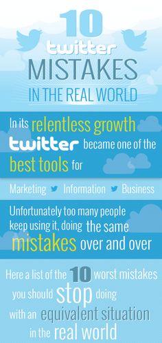 10 errores que se cometen en Twitter en la vida real