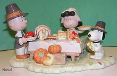 LENOX PEANUTS GIVING THANKS Thanksgiving NEW in Box COA