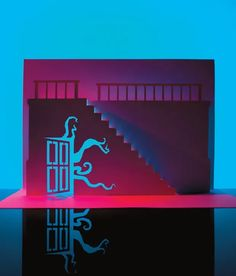 Horrorgami offers more than just spooky paper cutting designs, it shows you the basic kirigami techniques you need to know to get started. Paper Cut Design, Kirigami, Homemaking, Paper Cutting, Craft Projects, Paper Crafts, Neon Signs, How To Make, Diorama
