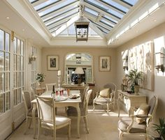 Conservatory--for winter breakfast, dining and night star gazing. Add a fireplace and couch.