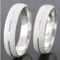 Alianças Compromisso Prata Diamantadas 4,5mm 8g VJ2166