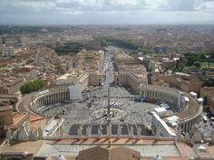 Ciudad del Vaticano.  Vista desde la Basílica