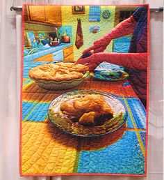 A seriously wow quilt. Takes me back to my mothers cooking and talking around the dinner table. Good memories