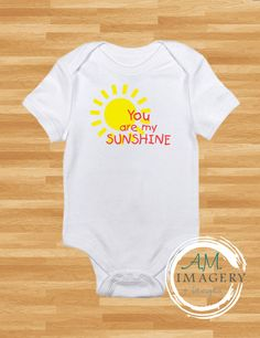 You Are My Sunshine Baby Onesie by AMImagery on Etsy