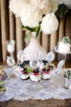 Parfait desserts: http://www.stylemepretty.com/little-black-book-blog/2014/09/23/czech-republic-bohemian-barn-wedding/ | Photography: Stephan Vrzala - http://www.stepanvrzala.com/