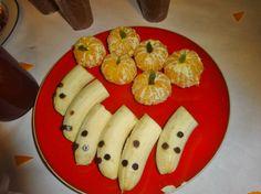 bananes fantômes et clémentines citrouilles