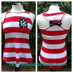 Monogram Patriotic Womens Tank Top. 4th of July, Patriotic, southern monograms, Red White and Blue by TwoDandelionsDesigns on Etsy