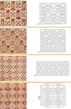 Nice graphic crochet lace patterns.