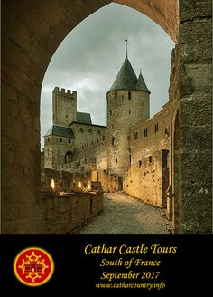 Aude Barbican,  Château Comtal (Count's Castle),  Cité of Carcassonne, Aude department, Languedoc, France....    www.catharcountry.info    ....     (Places still available for the September 2017 tour) The Cité of Carcassonne is the largest city in Europe with its medieval city walls still intact.