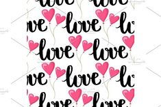 I love you text heart sharp vector seamless pattern background pink color card beautiful celebrate bright emoticon symbol holiday abstract art decoration. #vector #illustration