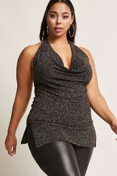 $28 FOREVER 21+ Plus Size Glitter Halter Dress #plussize #fashionaddict #trends #fashion #trendsetter #affilatelink