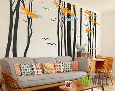 Stickers muraux sont un moyen simple et excellent pour ajouter de la couleur et lexcitation à une salle de jeux, crèche, chambre à coucher ou nimporte quelle autre pièce qui a besoin dun coup de pouce. [CE QUI EST INCLUS] Ensemble de décalque de mur arbre avec feuilles-approx.145.7 Migratory Birds, Tree Decals, Doha, Ajouter, Art Wall Kids, Tree Wall, Wall Design, Wall Murals, Birch