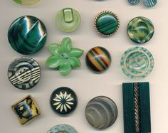 Newly listed buttons on Annie Frazier ETSY store.