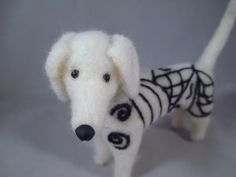Meet Gunther!!  A handmade Needle-Felted Zentangled dog stabbed into existence by Kenya at Flomop Studio!!