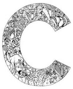 intricate alphabet coloring pages i think i going to print these off for me to color