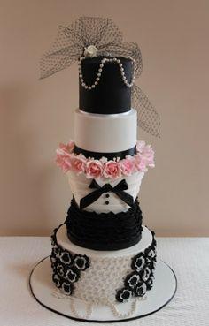 Chanel themed wedding cake idea
