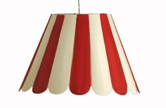 red scallop chandelier shade