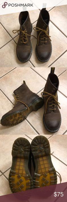 Dr. Martens Aztec Crazy Horse boots. Women's size 9. In excellent condition. Dr. Martens Shoes Lace Up Boots