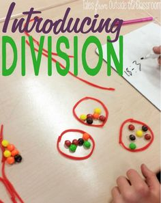 I love the idea of using Twizzlers and Skittles to introduce division! The multiplication and division task cards look super helpful too! 3rd Grade Division, Teaching Division, Division Activities, Math Division, Math Activities, Math Games, How To Teach Division, Maths 3e, Teaching Multiplication