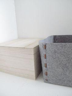 DIY felt storage box by Design & Form