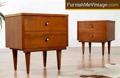 Pair of Mid Century Modern Nightstands with Formica Tops