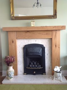 Order a Handmade Rustic Oak Beam Fireplace, High Quality and Nationwide Delivery Oak Beam Fireplace, Fireplace Mantel Surrounds, Basement Fireplace, Fireplace Mantles, Fireplace Ideas, Faux Mantle, Rustic Mantle, Wooden Fireplace, Alcove Storage