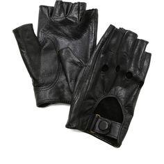Carolina Amato Fingerless Moto Gloves found on Polyvore