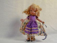 """Vintage Nancy Ann 5"""" bisque """"school girl"""""""