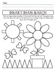 Identifying Shapes Worksheets Kindergarten - 3d shapes worksheet ...