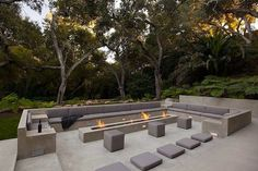 Glass Pavilion, an ultramodern house by Steve Hermann very modern fire pit. This is the idea i would like to go with for our pitvery modern fire pit. This is the idea i would like to go with for our pit Outdoor Fire, Outdoor Lounge, Outdoor Seating, Outdoor Rooms, Outdoor Gardens, Outdoor Living, Outdoor Decor, Terrasse Design, Patio Design