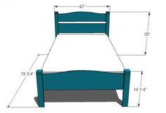 A simple classic pioneer style children's bed. Woodworking Guide, Custom Woodworking, Woodworking Projects Plans, Teds Woodworking, Diy Furniture Plans, Kids Furniture, Bedroom Furniture, Furniture Outlet, Ana White